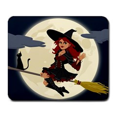Witch Witchcraft Broomstick Broom Large Mousepads
