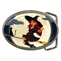 Witch Witchcraft Broomstick Broom Belt Buckles