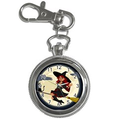 Witch Witchcraft Broomstick Broom Key Chain Watches