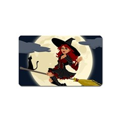 Witch Witchcraft Broomstick Broom Magnet (Name Card)
