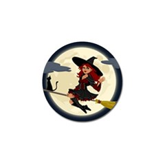 Witch Witchcraft Broomstick Broom Golf Ball Marker