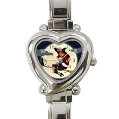 Witch Witchcraft Broomstick Broom Heart Italian Charm Watch