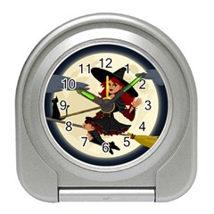 Witch Witchcraft Broomstick Broom Travel Alarm Clocks