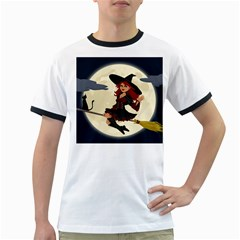 Witch Witchcraft Broomstick Broom Ringer T-Shirts