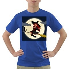 Witch Witchcraft Broomstick Broom Dark T-Shirt