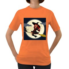 Witch Witchcraft Broomstick Broom Women s Dark T-Shirt