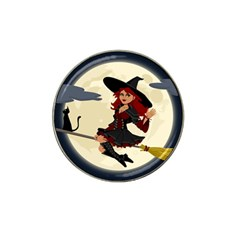 Witch Witchcraft Broomstick Broom Hat Clip Ball Marker (4 pack)