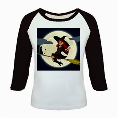 Witch Witchcraft Broomstick Broom Kids Baseball Jerseys