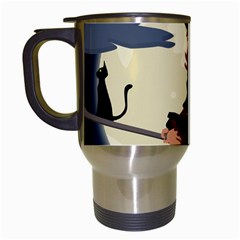 Witch Witchcraft Broomstick Broom Travel Mugs (White)