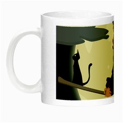 Witch Witchcraft Broomstick Broom Night Luminous Mugs