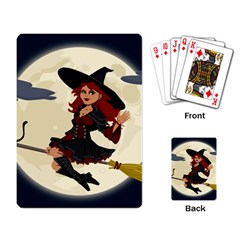 Witch Witchcraft Broomstick Broom Playing Card
