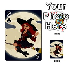 Witch Witchcraft Broomstick Broom Playing Cards 54 Designs