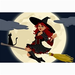 Witch Witchcraft Broomstick Broom Collage Prints