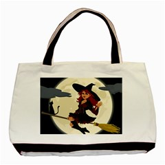 Witch Witchcraft Broomstick Broom Basic Tote Bag