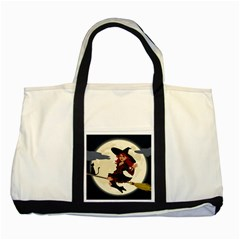 Witch Witchcraft Broomstick Broom Two Tone Tote Bag