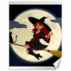 Witch Witchcraft Broomstick Broom Canvas 18  x 24