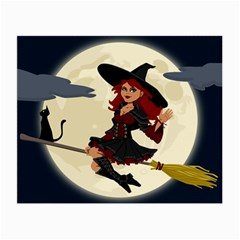 Witch Witchcraft Broomstick Broom Small Glasses Cloth (2-Side)