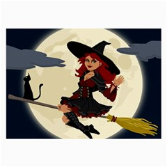 Witch Witchcraft Broomstick Broom Large Glasses Cloth