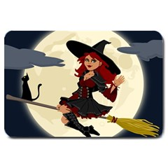 Witch Witchcraft Broomstick Broom Large Doormat