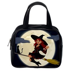 Witch Witchcraft Broomstick Broom Classic Handbags (One Side)