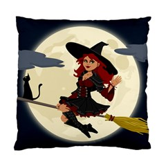 Witch Witchcraft Broomstick Broom Standard Cushion Case (Two Sides)