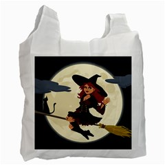 Witch Witchcraft Broomstick Broom Recycle Bag (One Side)