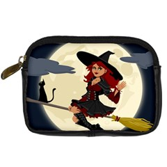 Witch Witchcraft Broomstick Broom Digital Camera Cases