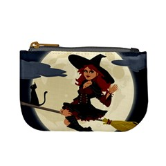 Witch Witchcraft Broomstick Broom Mini Coin Purses