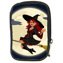 Witch Witchcraft Broomstick Broom Compact Camera Cases
