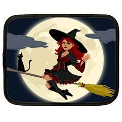 Witch Witchcraft Broomstick Broom Netbook Case (XL)