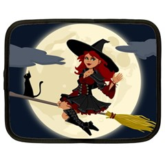 Witch Witchcraft Broomstick Broom Netbook Case (XXL)