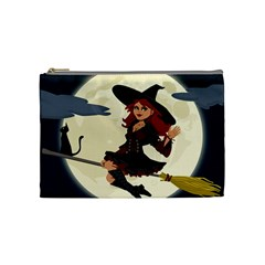 Witch Witchcraft Broomstick Broom Cosmetic Bag (Medium)