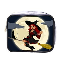 Witch Witchcraft Broomstick Broom Mini Toiletries Bags