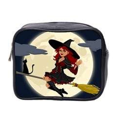 Witch Witchcraft Broomstick Broom Mini Toiletries Bag 2-Side