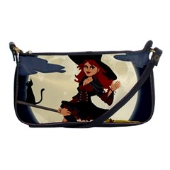 Witch Witchcraft Broomstick Broom Shoulder Clutch Bags