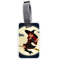 Witch Witchcraft Broomstick Broom Luggage Tags (One Side)