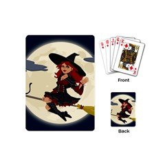 Witch Witchcraft Broomstick Broom Playing Cards (Mini)