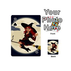 Witch Witchcraft Broomstick Broom Playing Cards 54 (Mini)