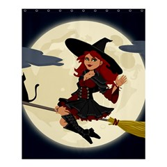 Witch Witchcraft Broomstick Broom Shower Curtain 60  x 72  (Medium)