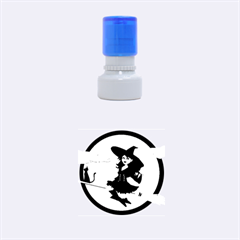 Witch Witchcraft Broomstick Broom Rubber Round Stamps (Small)