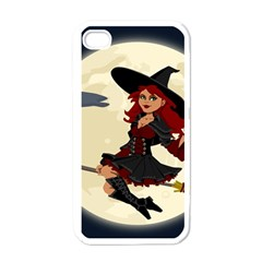 Witch Witchcraft Broomstick Broom Apple iPhone 4 Case (White)