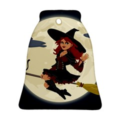 Witch Witchcraft Broomstick Broom Bell Ornament (2 Sides)