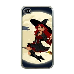 Witch Witchcraft Broomstick Broom Apple iPhone 4 Case (Clear)