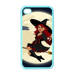 Witch Witchcraft Broomstick Broom Apple iPhone 4 Case (Color)