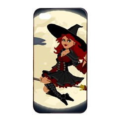 Witch Witchcraft Broomstick Broom Apple iPhone 4/4s Seamless Case (Black)