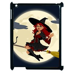 Witch Witchcraft Broomstick Broom Apple iPad 2 Case (Black)