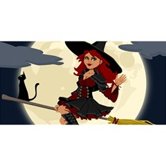 Witch Witchcraft Broomstick Broom YOU ARE INVITED 3D Greeting Card (8x4)