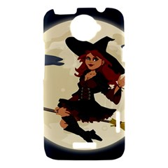 Witch Witchcraft Broomstick Broom HTC One X Hardshell Case