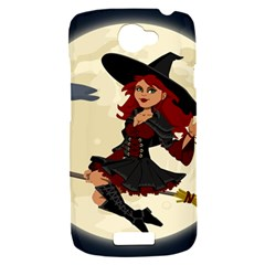 Witch Witchcraft Broomstick Broom HTC One S Hardshell Case