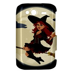 Witch Witchcraft Broomstick Broom HTC Wildfire S A510e Hardshell Case